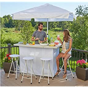 Amazon.com : Best of Times Portable Patio Bar Table, Rock Wall ...