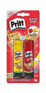 pritt glitter sticks colla rossa brillantinata glitterata gialla