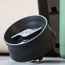hot cap, thermos bottle cap, twist cap, stainless steel bottle, reusable bottle, camelbak bottle