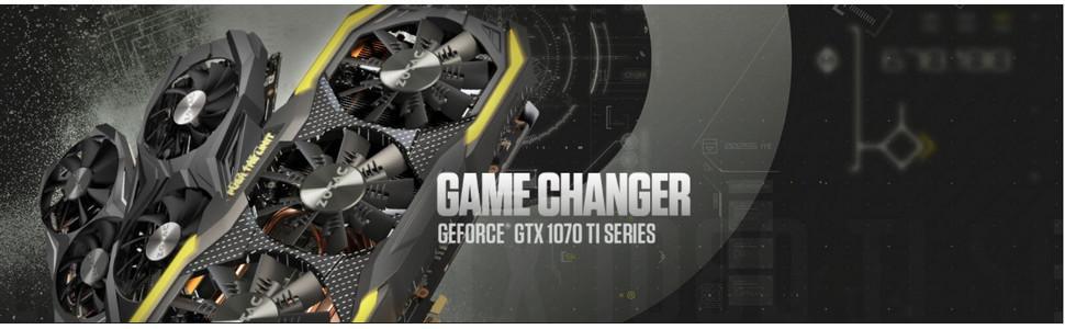 ZOTAC GeForce GTX 1070 Ti AMP EXTREME 8GB GDDR5 256-bit Gaming Graphics  Card IceStorm Cooling, Dual blade EKO Fans, Carbon ExoArmor, Spectra  Lighting,