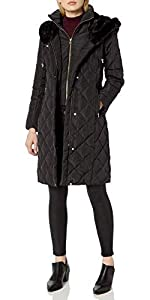 Taffeta Diamond Quilted Down Coat