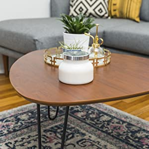 We Furniture Azf32hpctwt Mid Century Modern Hairpin Coffee Accent