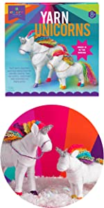 Yarn unicorn craft for kids age 8 9 10 11 12 gift for animal lover gift for kids craft kit for kids