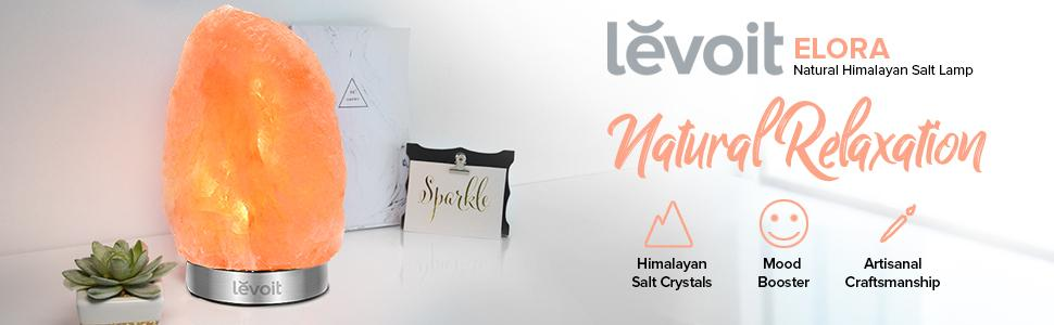 Amazon Com Levoit 2 Pack Elora Glow Himalayan Salt Lamp Hand Carved Natural Pink Sea Rock