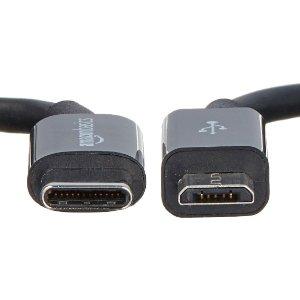 Amazonベーシック USBタイプC - マイクロB 2.0ケーブル 15cm