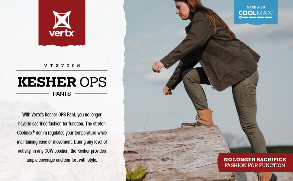 Jeans, stretch, kesher, kesher OPS,  tactical, concealed carry, coolmax, comfort, womens fashion