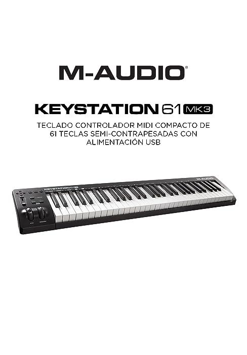 M-Audio Keystation 49 MK3 - Teclado Controlador MIDI USB Compacto de 49 teclas con controles asignables, ruedas de cambio de tono/modulación, ...
