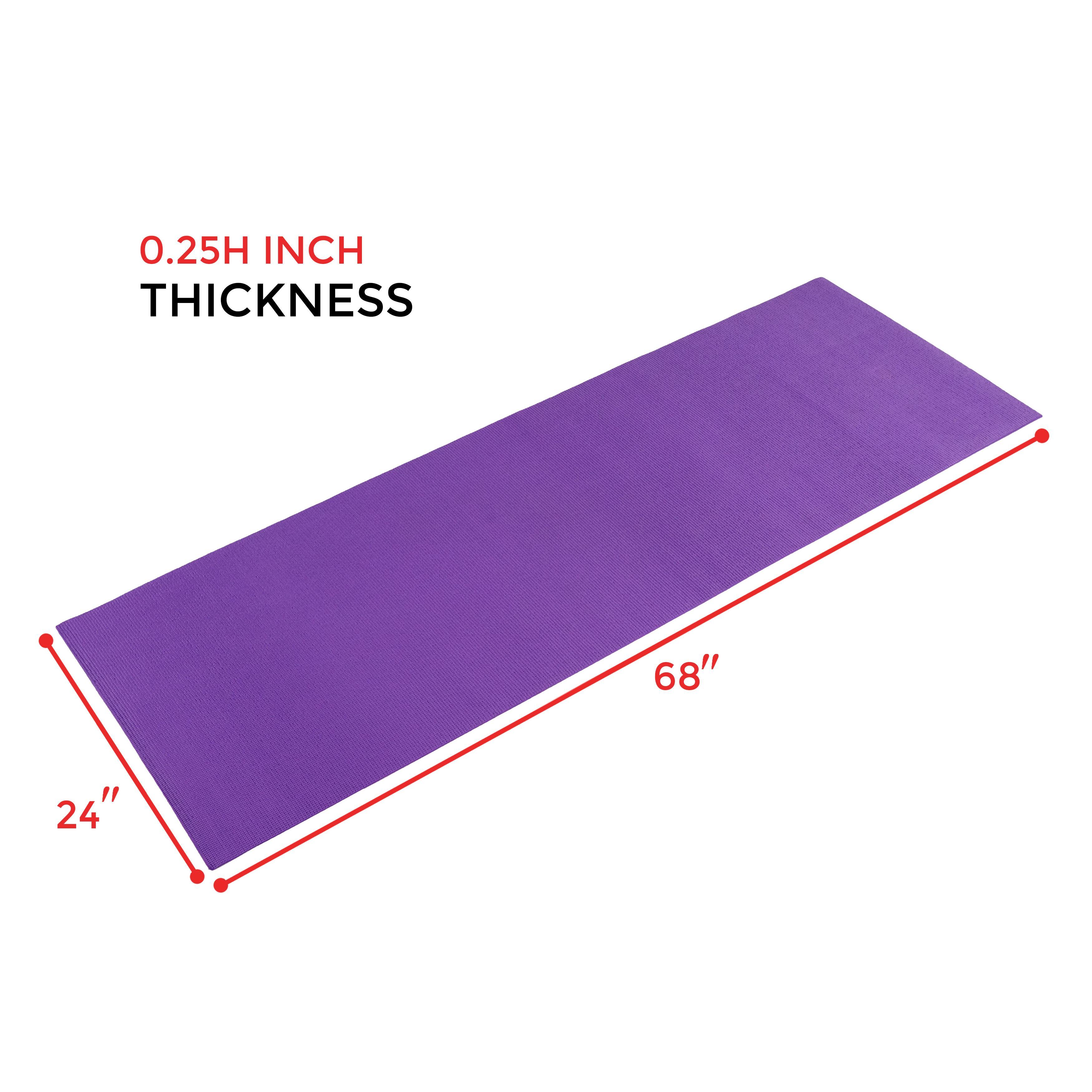 Amazon.com : Sunny Health And Fitness Yoga Mat (Blue