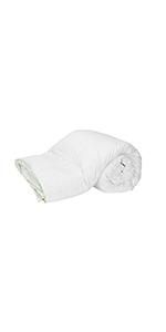 ouette de 100% de duvet d´oie blanche antiallergique, housse en 100% coton
