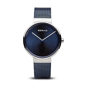 Bering caballero pulsera cristal zafiro reloj delgado Behring Skagen clásico diseño cuarzo elegancia