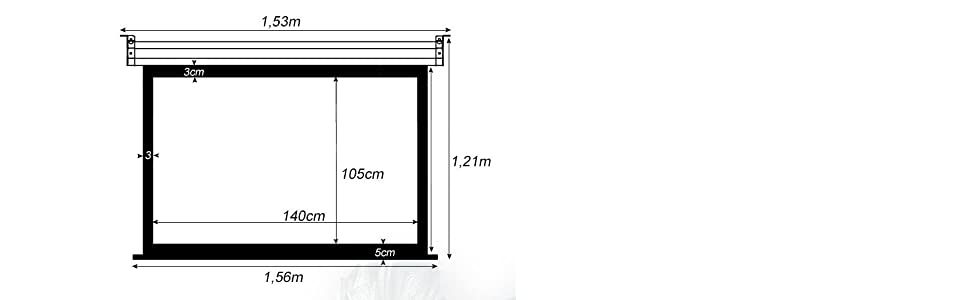 Pantalla de proyeccion manual de 140 x 105cm , Luxscreen 72 ...