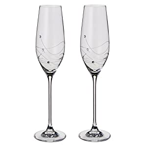 Dartington, Dartington Crystal, Glitz Flutes, Champagne, Flute Pair,
