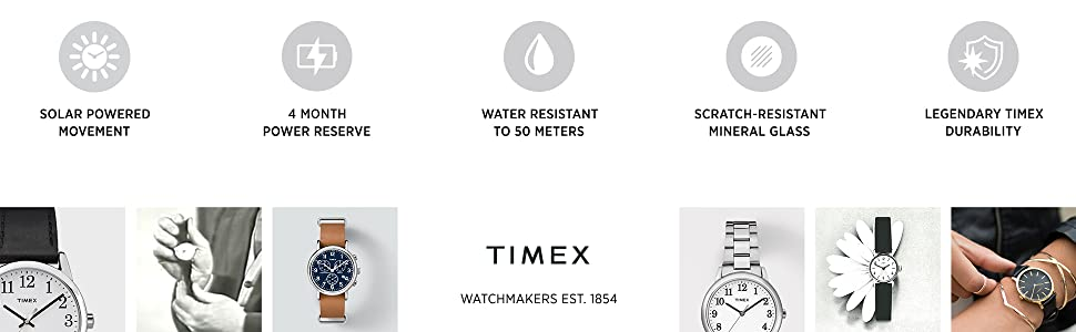 Timex watchmakers established 1854.