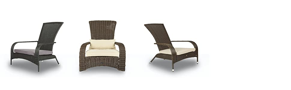 Amazon Com Patio Sense 61469 Coconino Wicker Chair Mocha