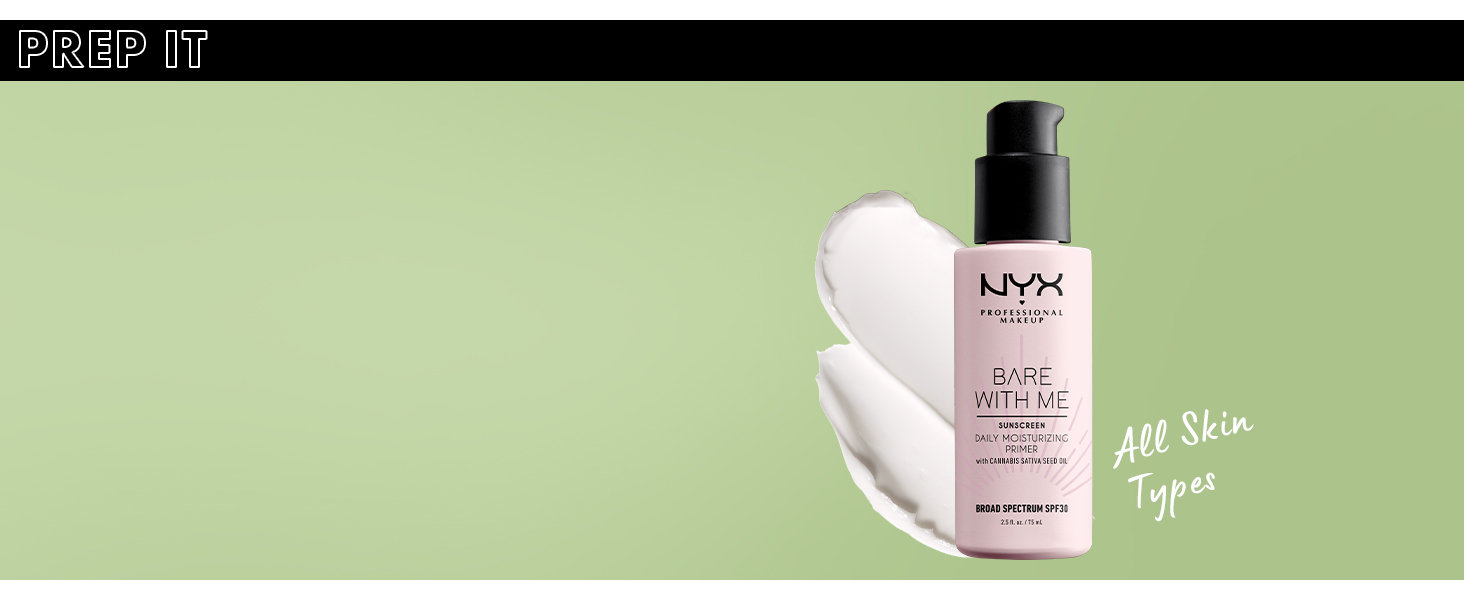 nyx bare with me cannabis sativa seed oil spf 30 primer