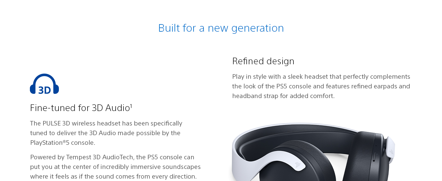 Pulse 3D Wireless Headset, PlayStation 5, PS5