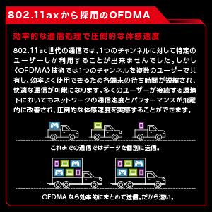 802.11axから採用のOFDMA