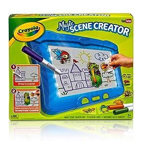 Amazon.com: Crayola Magic Scene Creator, Drawing Kit for