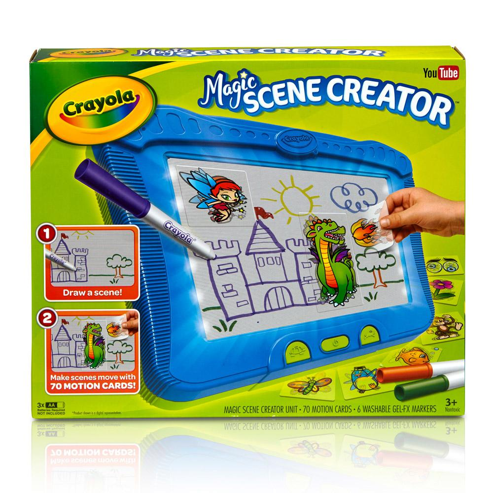 Best Crayola Toys For Kids : Amazon crayola magic scene creator drawing kit for