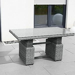 greemotion tisch bari grau terassentisch mit. Black Bedroom Furniture Sets. Home Design Ideas