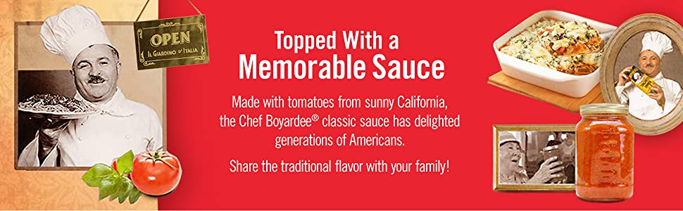 Enjoy Chef Boyardee's traditional sauce