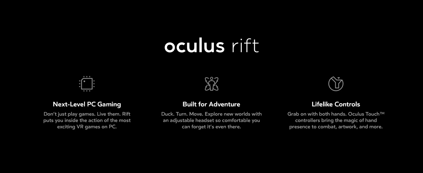 Amazon com: Oculus Rift + Touch Virtual Reality System