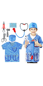 Veterinarian Doctor Role Play Costume Set