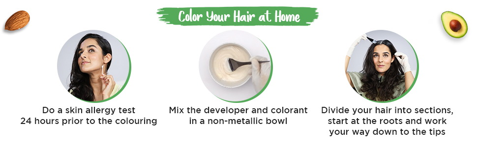 How to use hair colour , color