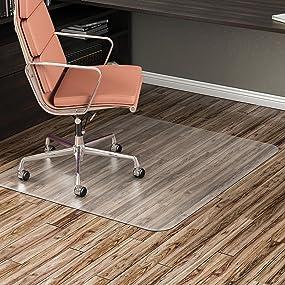 amazon com deflecto economat clear chair mat hard floor use