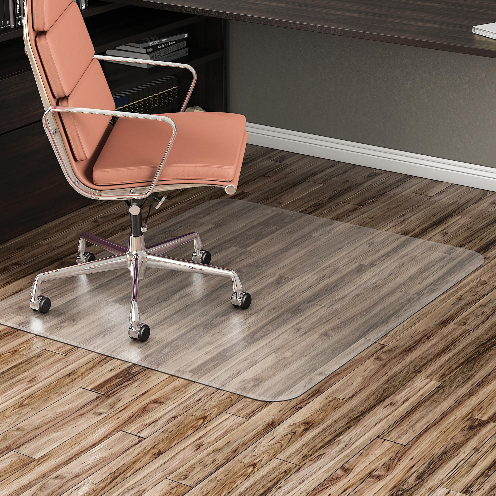 Deflecto EconoMat Clear Chair Mat Hard Floor Use Rectangle
