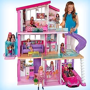 Casa dei Sogni di Barbie con ascensore per sedia a rotelle, piscina