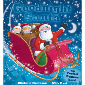 Goodnight Santa, bedtime book, Santa book, Santa story, picture book for bedtime