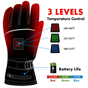 electric heated gloves rechargeable heated gloves