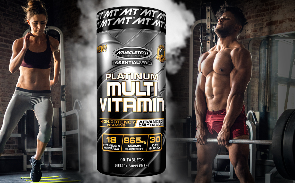 Buy Muscletech Essential Series Platinum Multi Vitamin (18 Vitamins & Minerals, 865mg Amino Support) - 90 Tabs Online at Low Prices in India - Amazon.in
