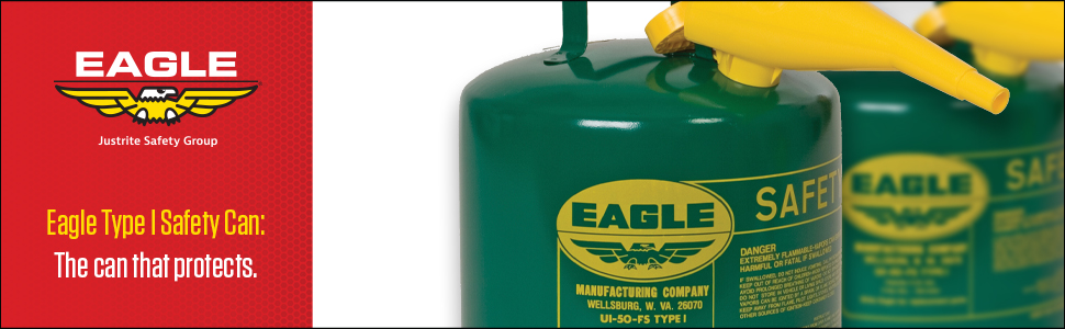 Eagle Type 1 safety can green funnel