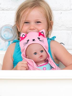 Doll,adora,dolls,bath,baby,bathtime,time,by,bathtub,babies,for,water,safe,inch,clothes,frog,blue,toy