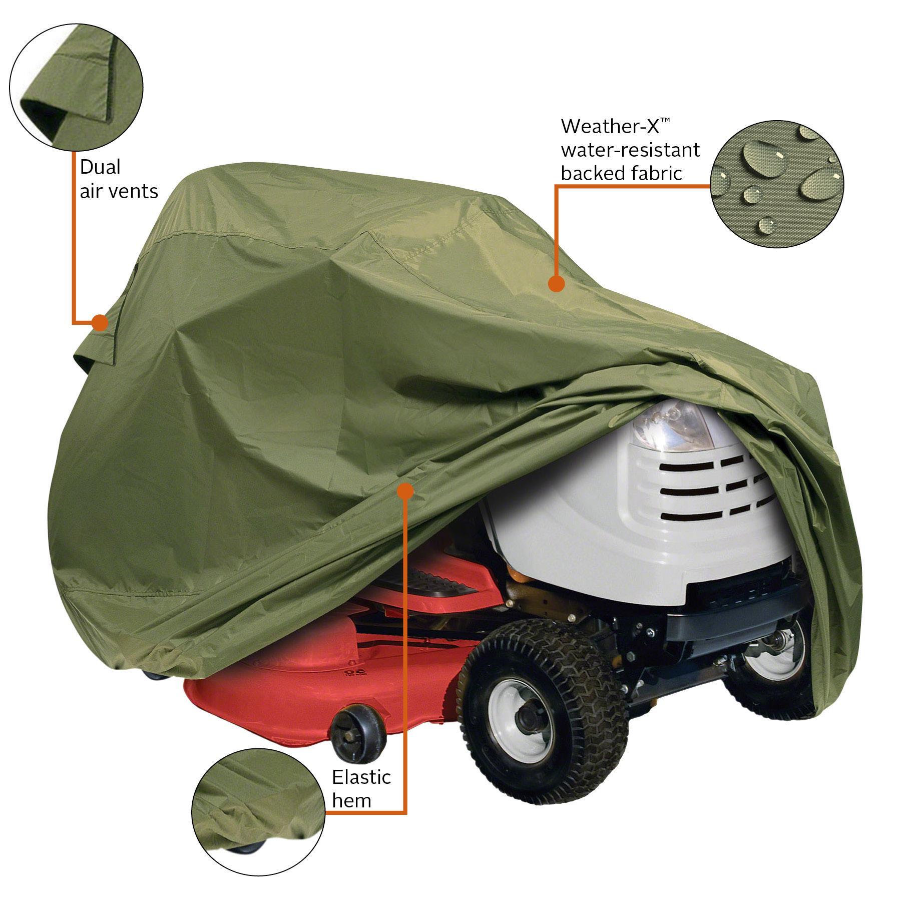Classic accessories 73910 lawn tractor cover for Lawn garden accessories