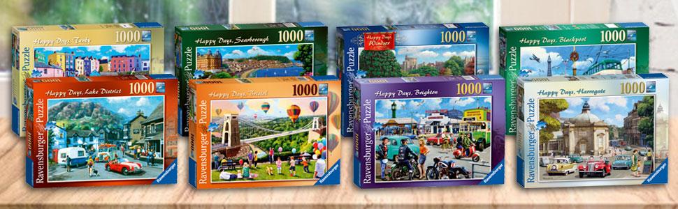19898 Ravensburger Happy Days Windsor Jigsaw Puzzle 1000 Quality Piece Age 12+