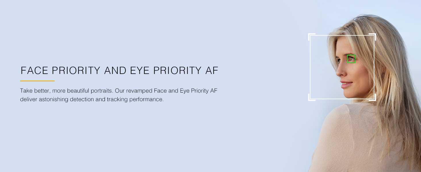 Face Priority and Eye Priority AF