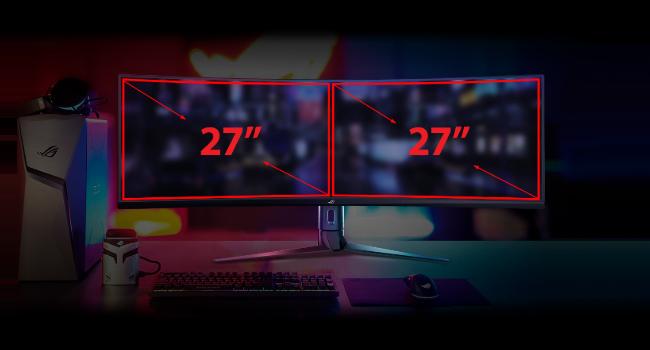 Asus xg48vq ulta wide monitor