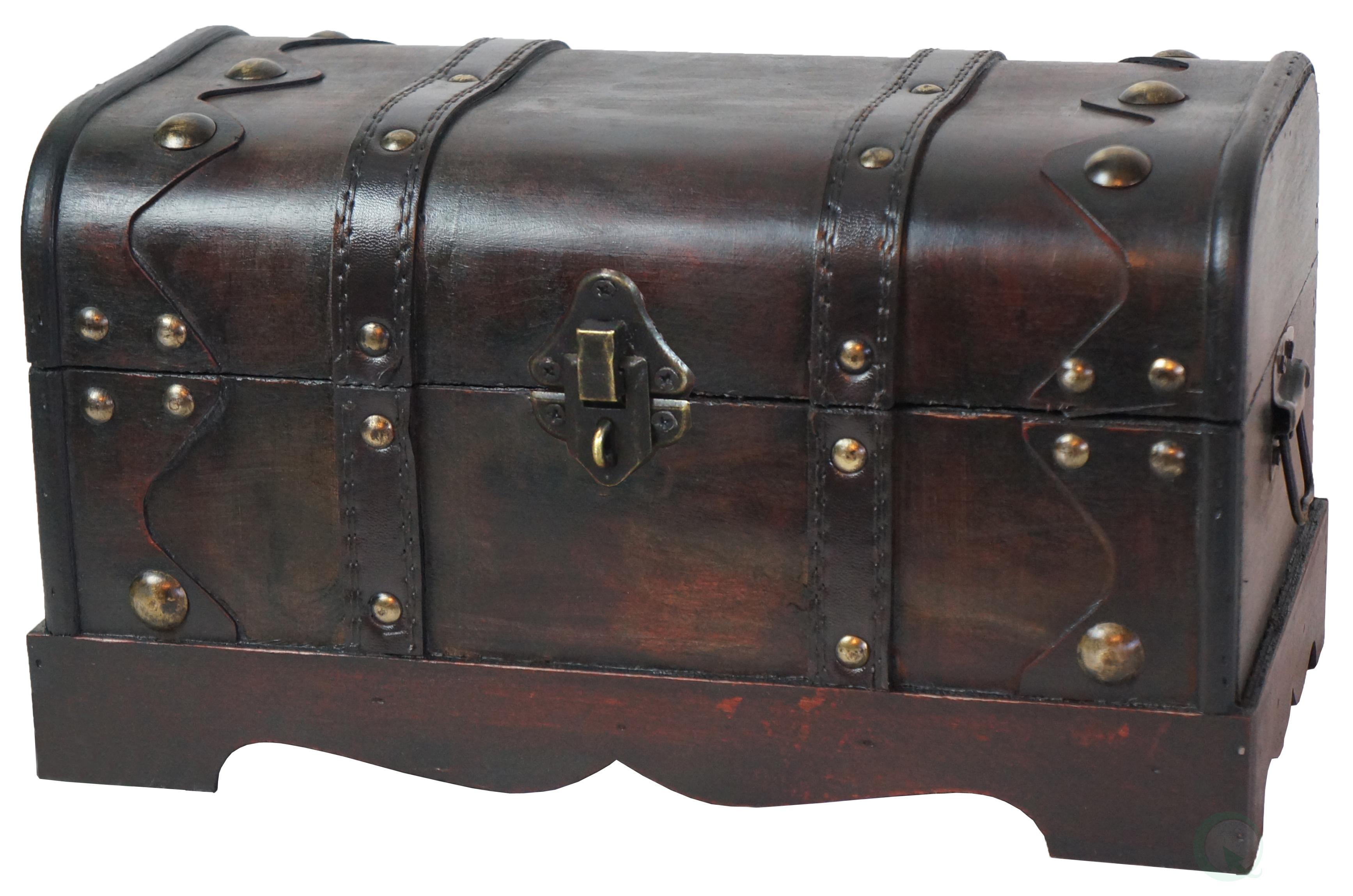 Wood Pirate Chest ~ Quickway imports small pirate style wooden treasure chest