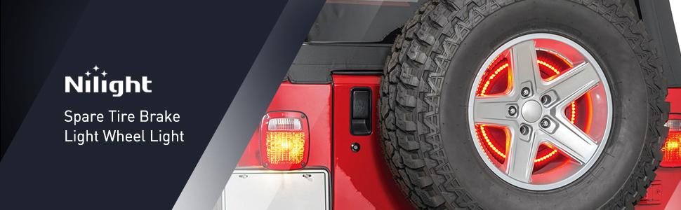 Spare Tire Brake Light Wheel Light