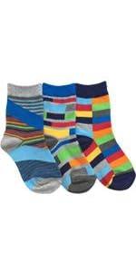 Jefferies Socks Big Boys' Funky Stripe Crew Socks 3 Pack