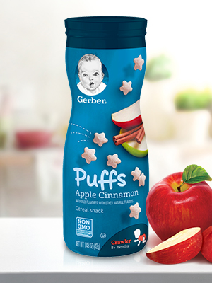 Gerber Puffs are a yummy snack that have essential vitamins and minerals for babies