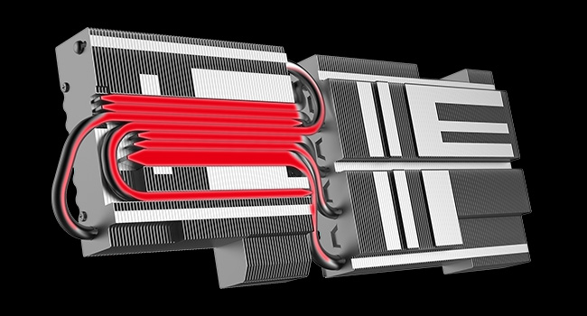 MSI RTX 2080 Turing GPU Heaksink