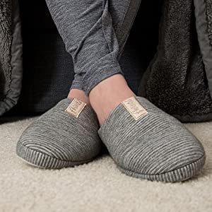 Aerusi Trento Unisex Adults Microfiber Modern House Slippers