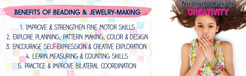 expression, creativity, bracelets, jewelry, beading, activity kit, activity, craft, techniques