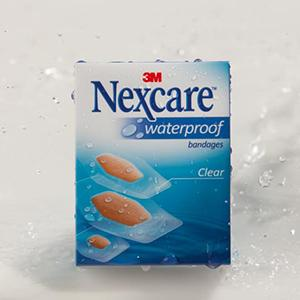 Nexcare Waterproof Bandages packaging