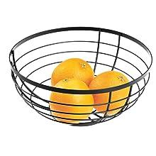 fruit bowl organizer kitchen counter design crisp clean matte black