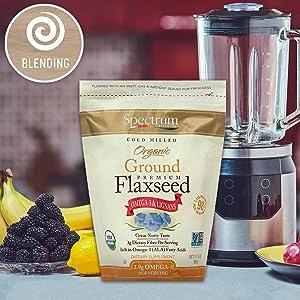 Spectrum Ground Flaxseed - Blending